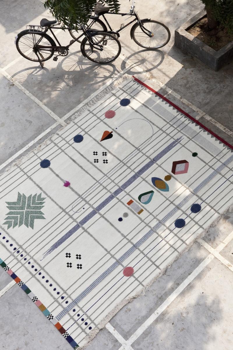 Rabari Rug Collection by Doshi Levien for Nanimarquina | Yellowtrace