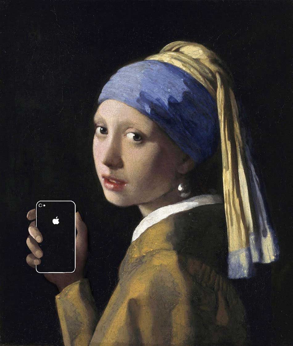 Classic Paintings with a Modern Twist // 'Art x Smart' Series by Kim Dong-Kyu.