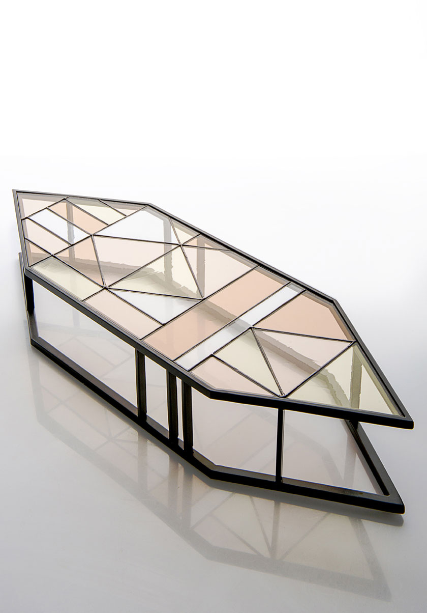 Ambrosiana Collection, Santissimi iron and stained glass trays by Serena Confalonieri | Yellowtrace