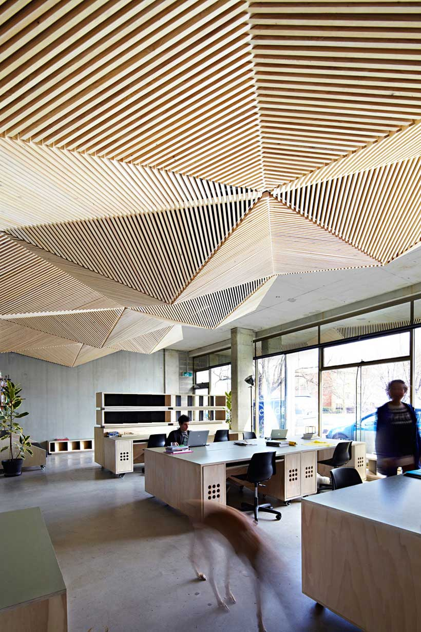 Assemble melbourne office yellowtrace for Unique office interiors