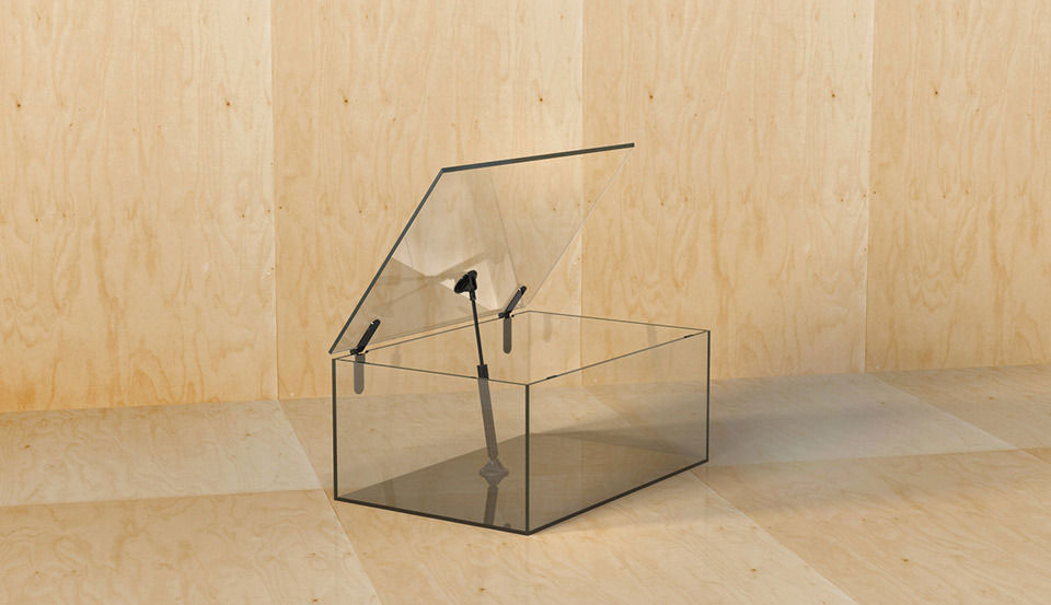 Man Machine Glass Furniture by Konstantin Grcic | Yellowtrace