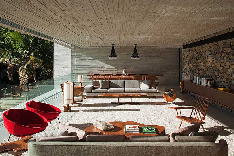 Paraty House by Marcio Kogan | Yellowtrace