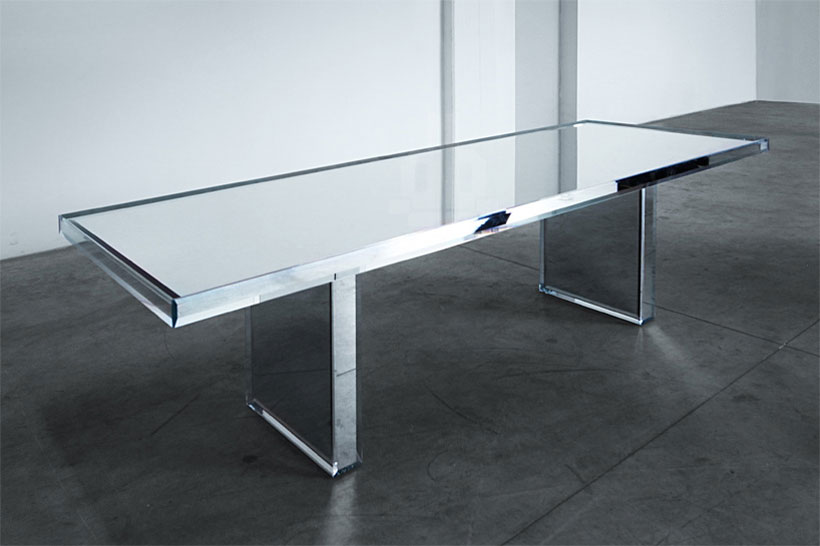 Prism Mirror Table for Glas Italia by Tokujin Yoshioka for Glasitalia | Yellowtrace