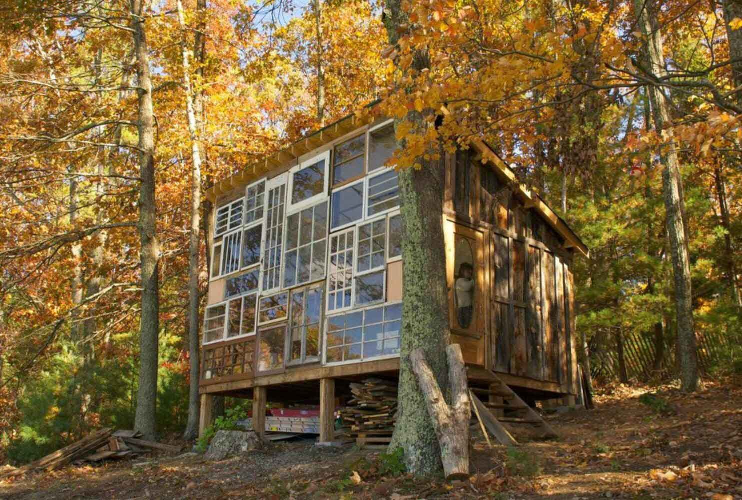 Recycled Window House by Nick Olson & Lilah Horwitz   Yellowtrace