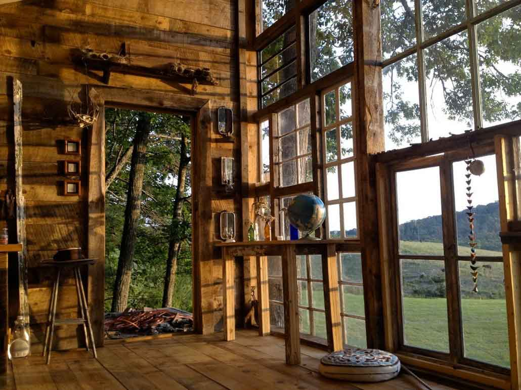 Glass Windows For Homes : Recycled window house by nick olson lilah horwitz
