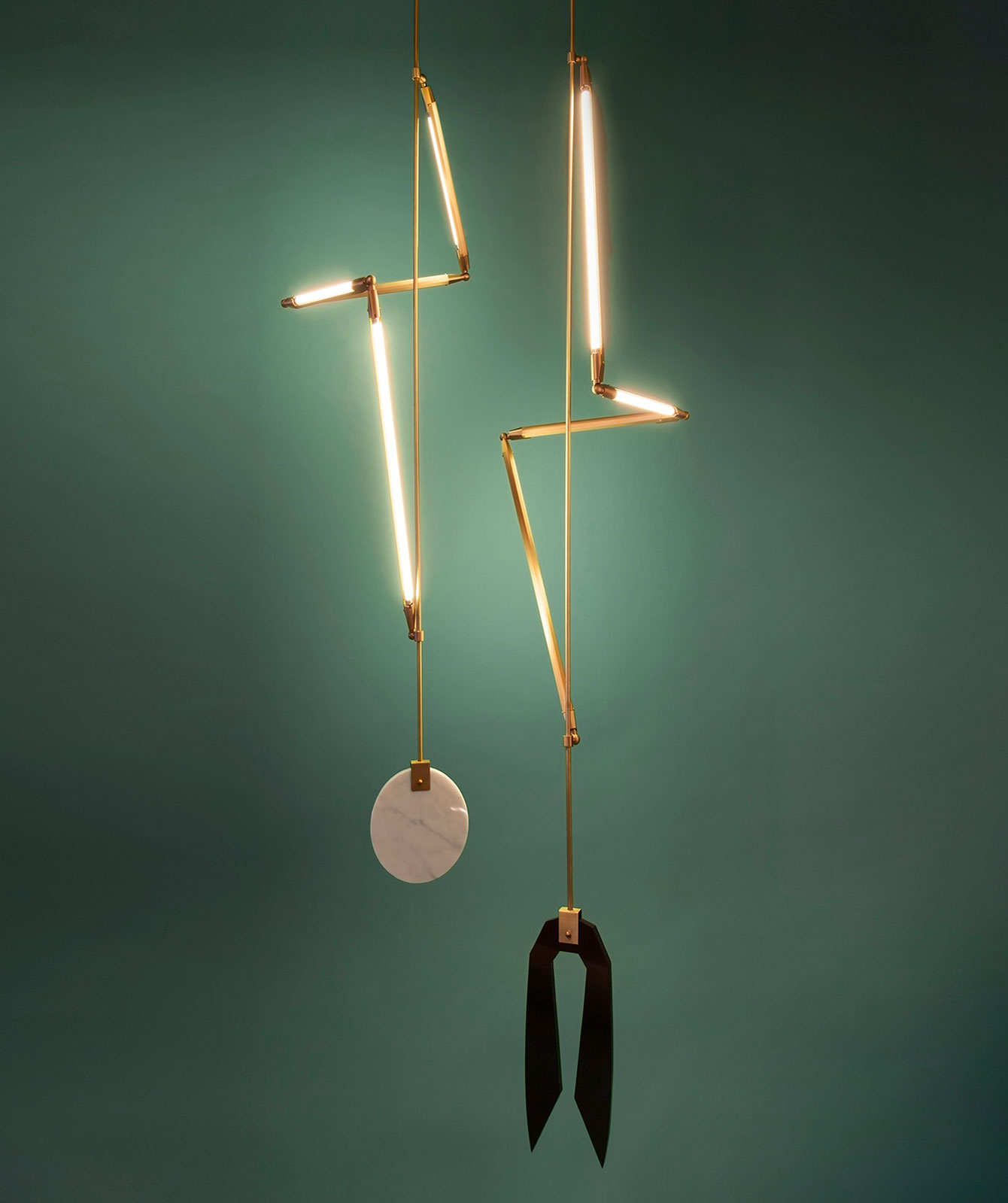 Sculptural Geometric Lighting by Bec Brittain.