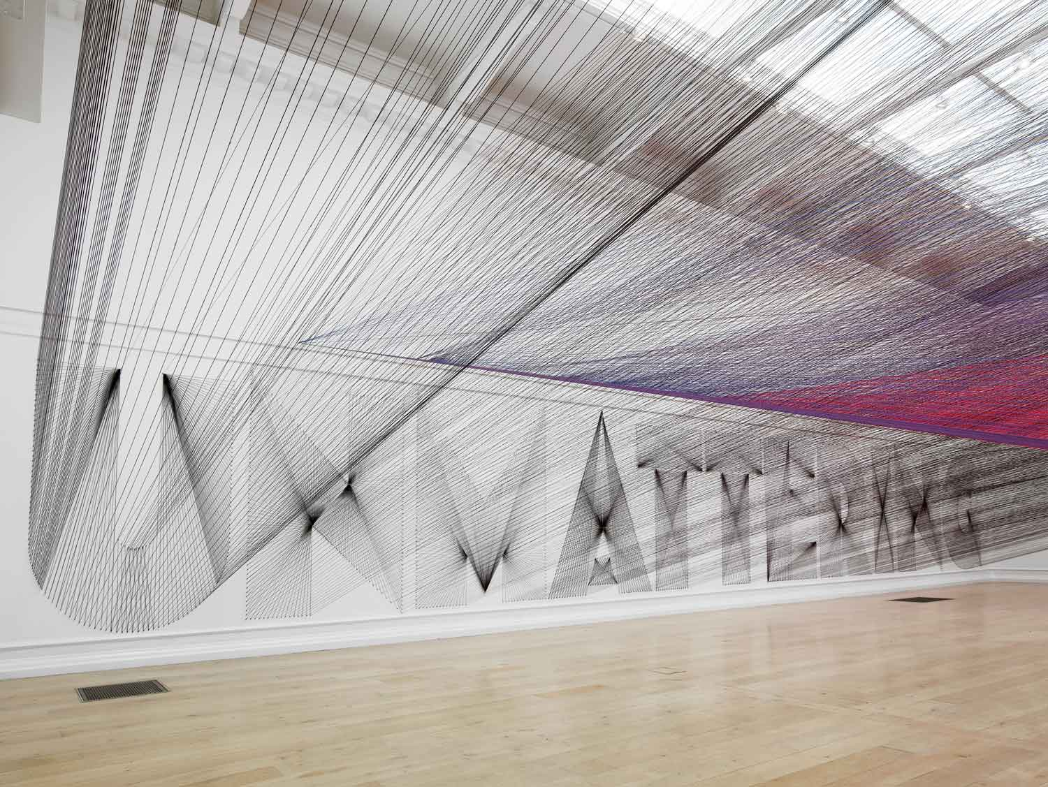 Artists Insomnia Leads to Large Scale Thread Installation | Yellowtracev