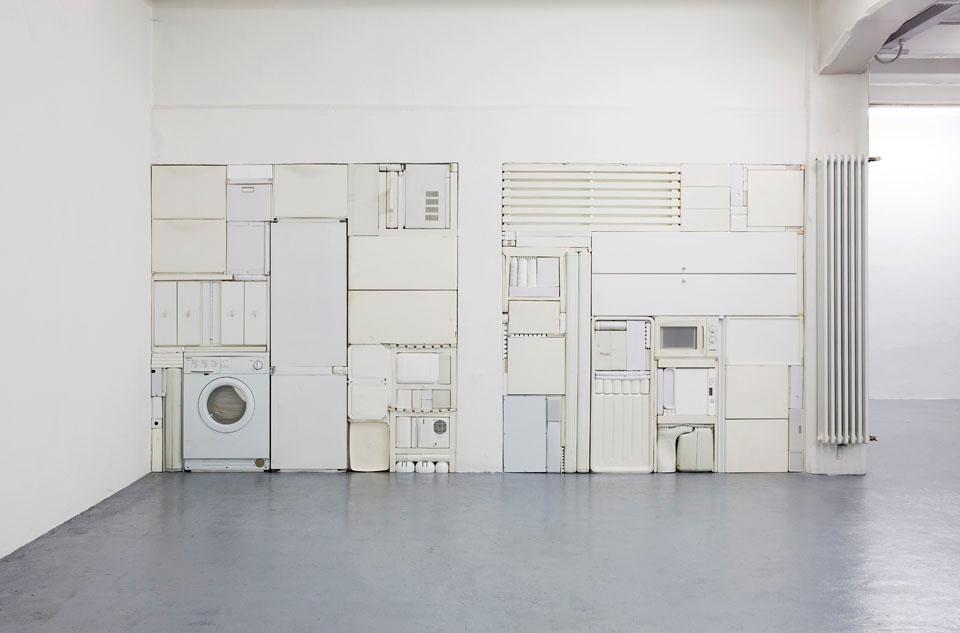 Michael Johansson all white tetris installation| Yellowtrace