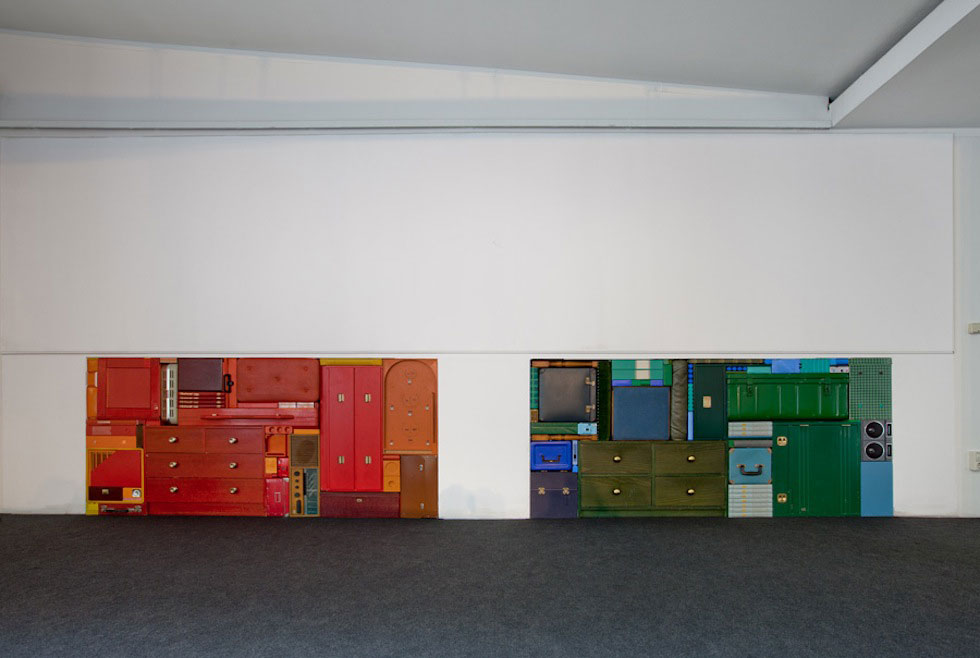 Michael Johansson multicolour tetris installation | Yellowtrace