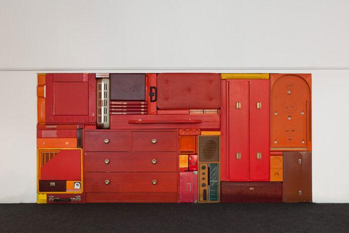 Michael Johansson red tetris installation | Yellowtrace