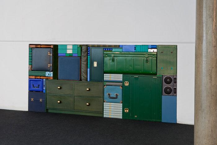 Michael Johansson green tetris installation | Yellowtrace