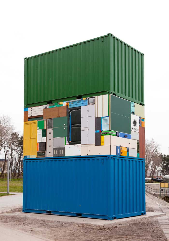 Michael Johansson container installation | Yellowtrace