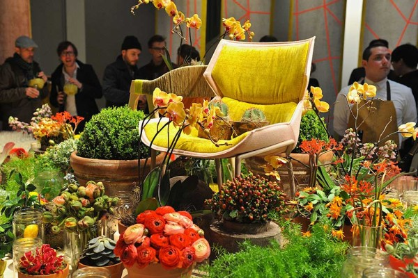 Moroso Revolving Room Milan 2013 photo by Nick Hughes for Yellowtrace