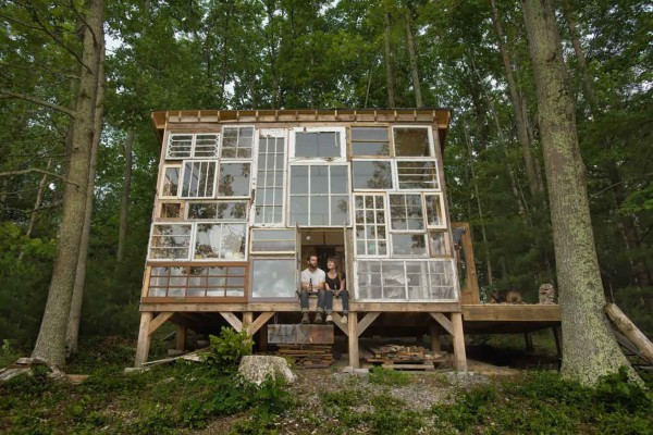 Recycled Window House by Nick Olson & Lilah Horwitz | Yellowtrace