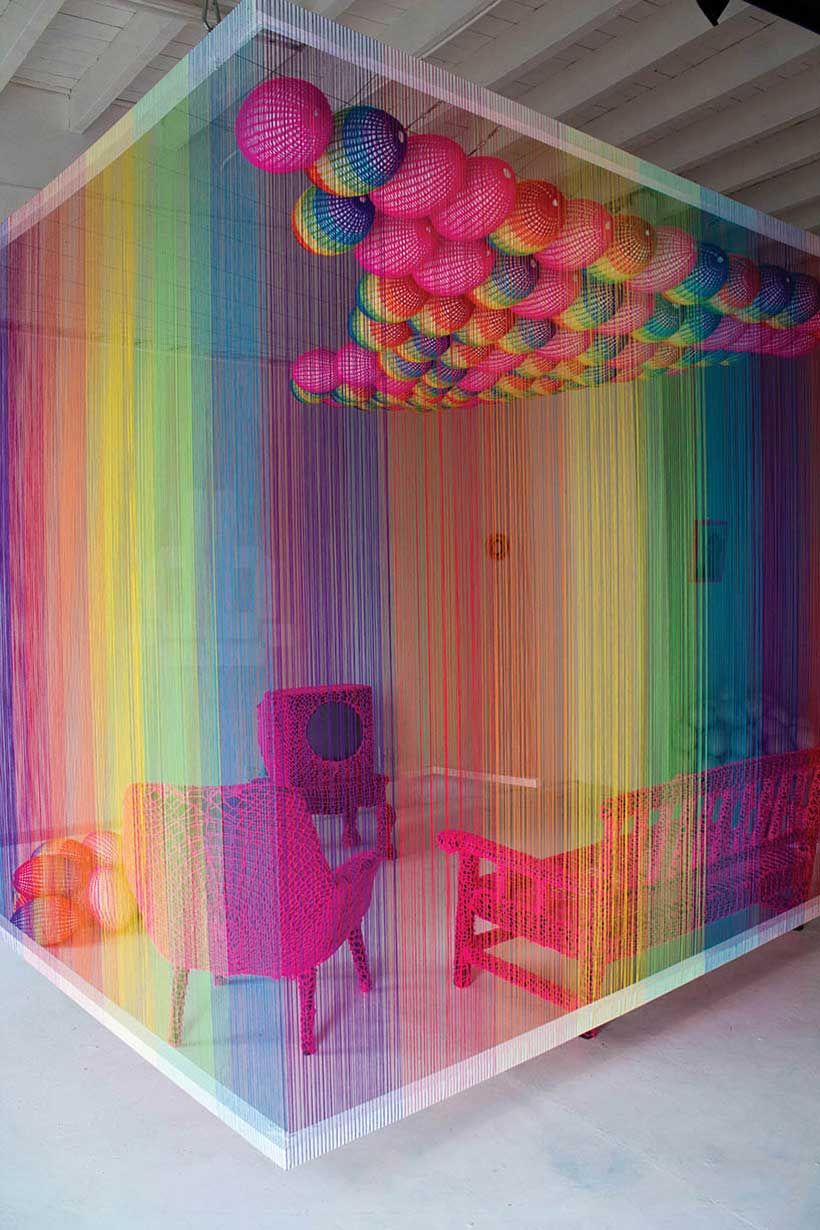 The Rainbow Room Installation by Pierre Le Riche | Yellowtrace