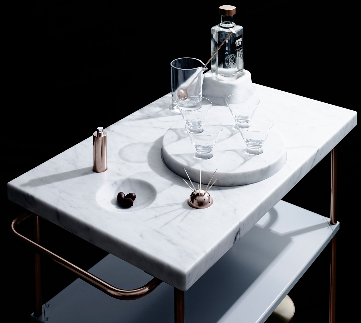 Absolut Elyx Martini Trolley by Sarah K | Yellowtrace
