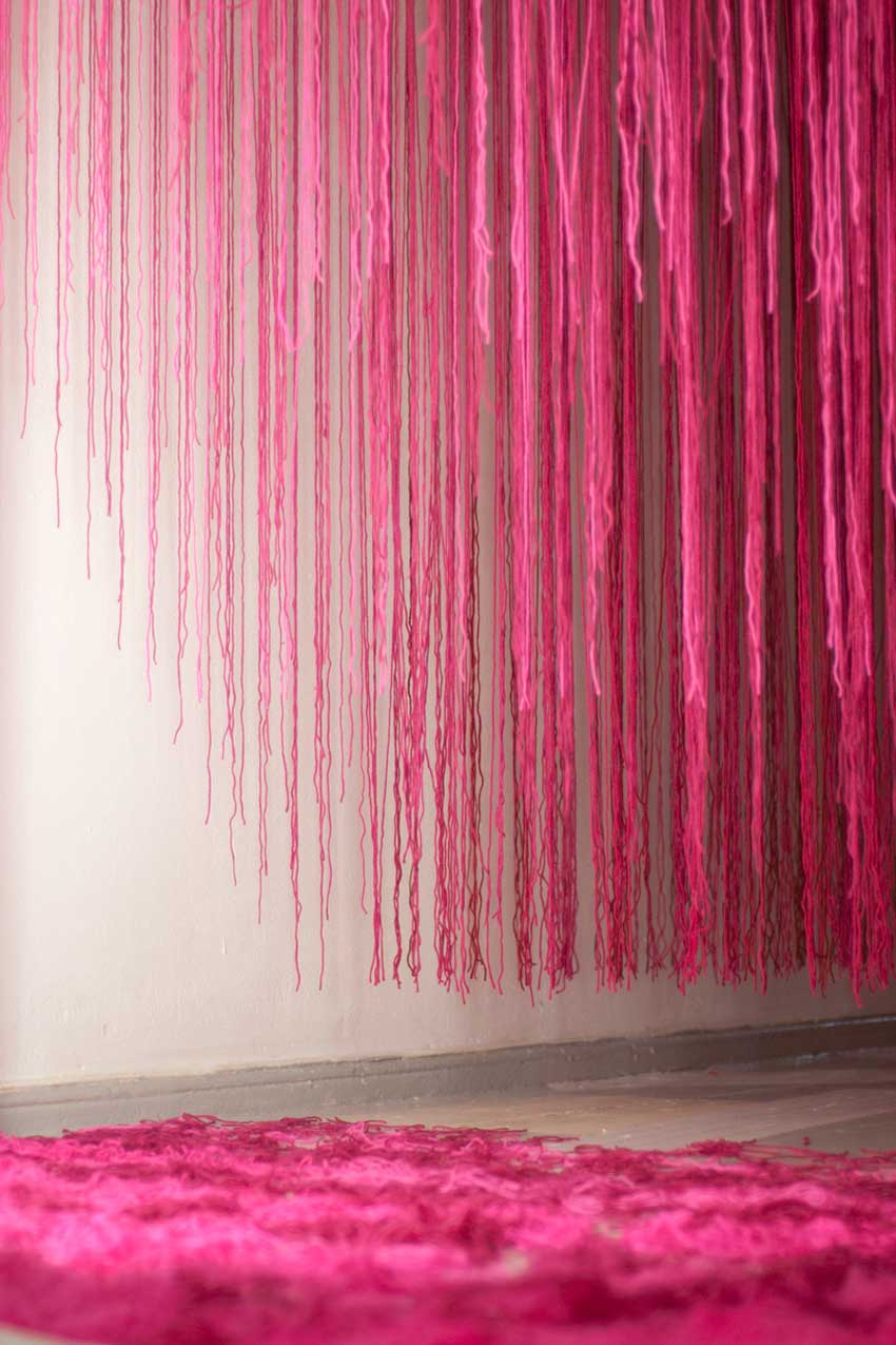 Anna Kostreva Broken String Kilometers Installation | Yellowtrace