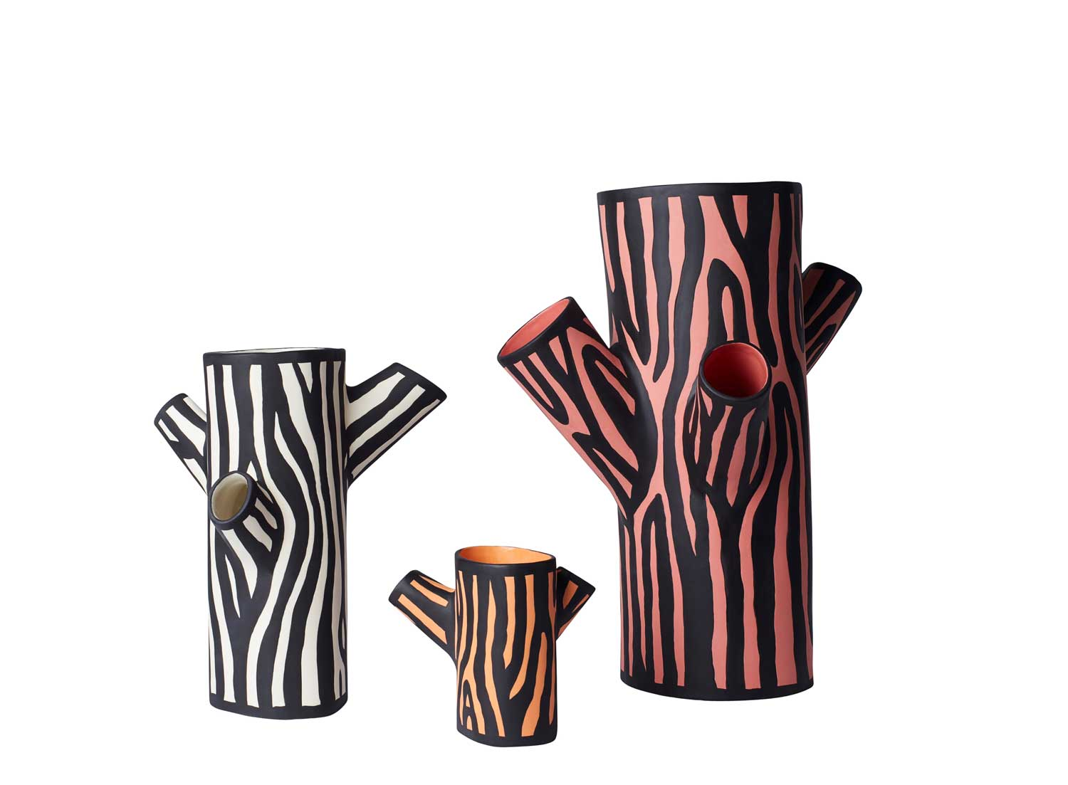 Tree Tunk Vases by Richard Woods for WrongForHay - London Design Week | Yellowtrace