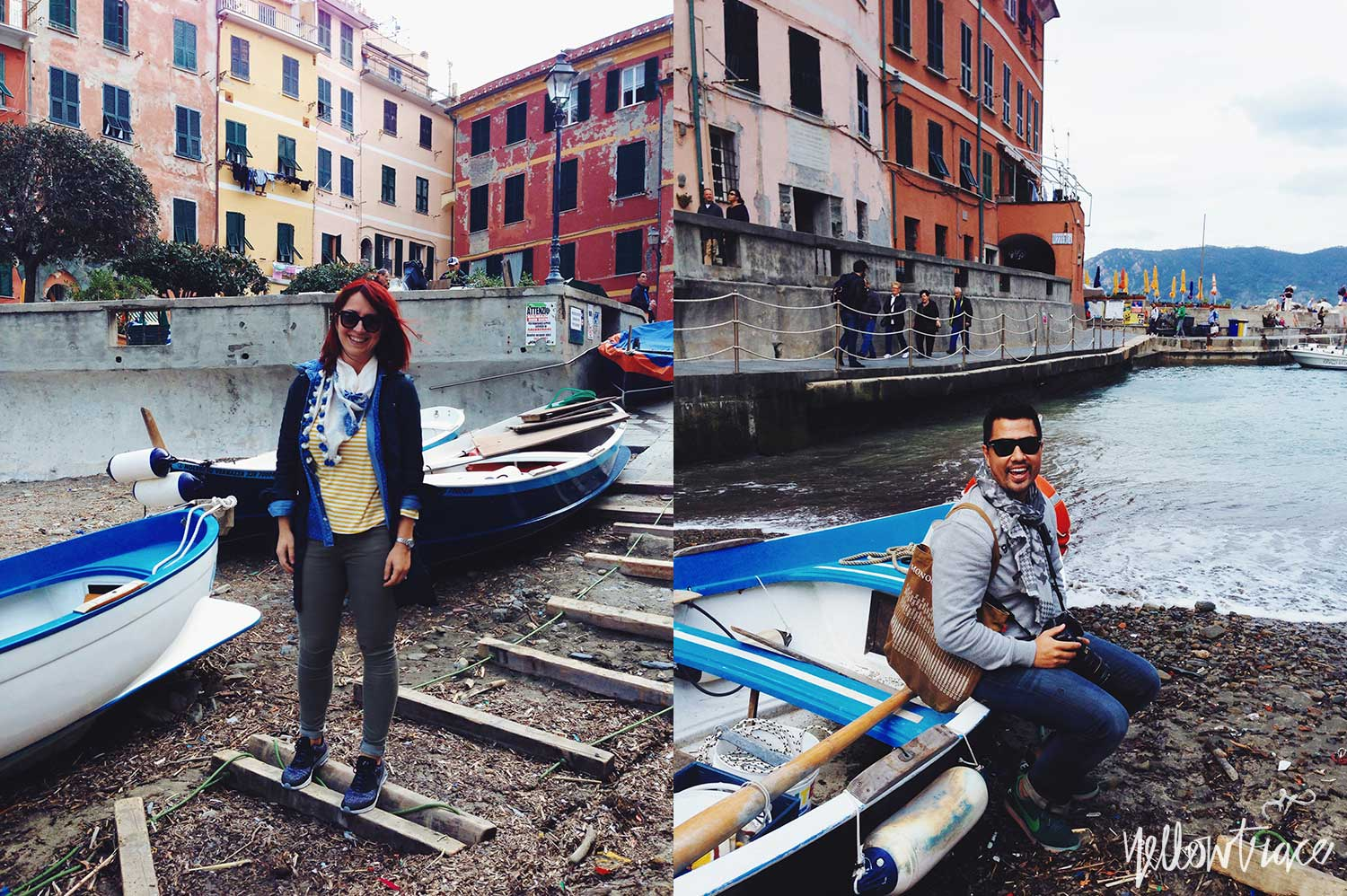 #YellowtraceTravels to Cinque Terre, Vernazza. Nick Hughes & Dana Tomic Hughes / Photo © Nick Hughes