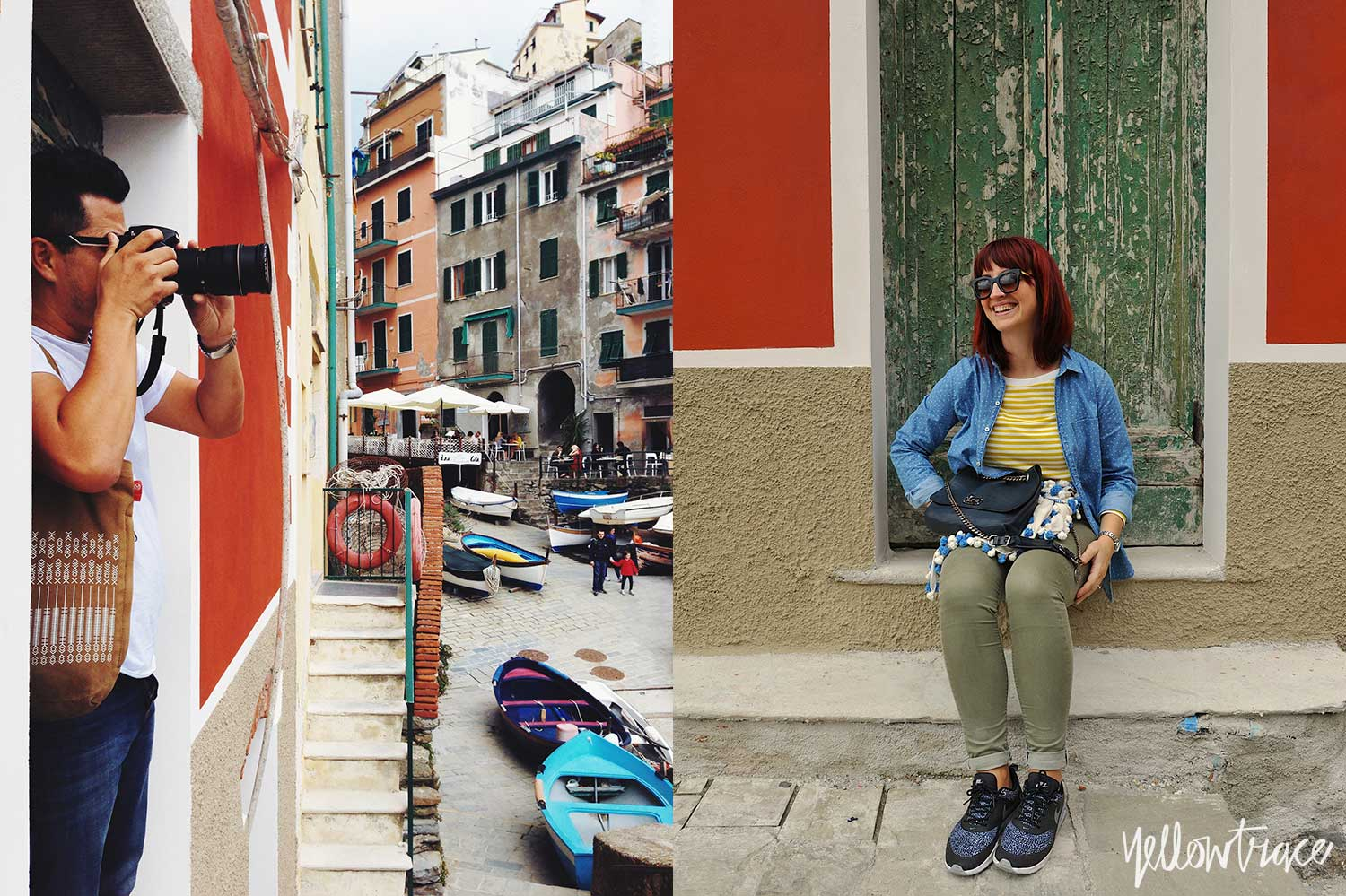 #YellowtraceTravels to Cinque Terre, Riomaggiore. Nick Hughes & Dana Tomic Hughes / Photo © Nick Hughes