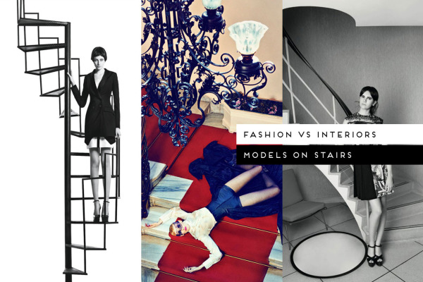 Fashon vs Interiors Models on Stairs, curated by Yellowtrace