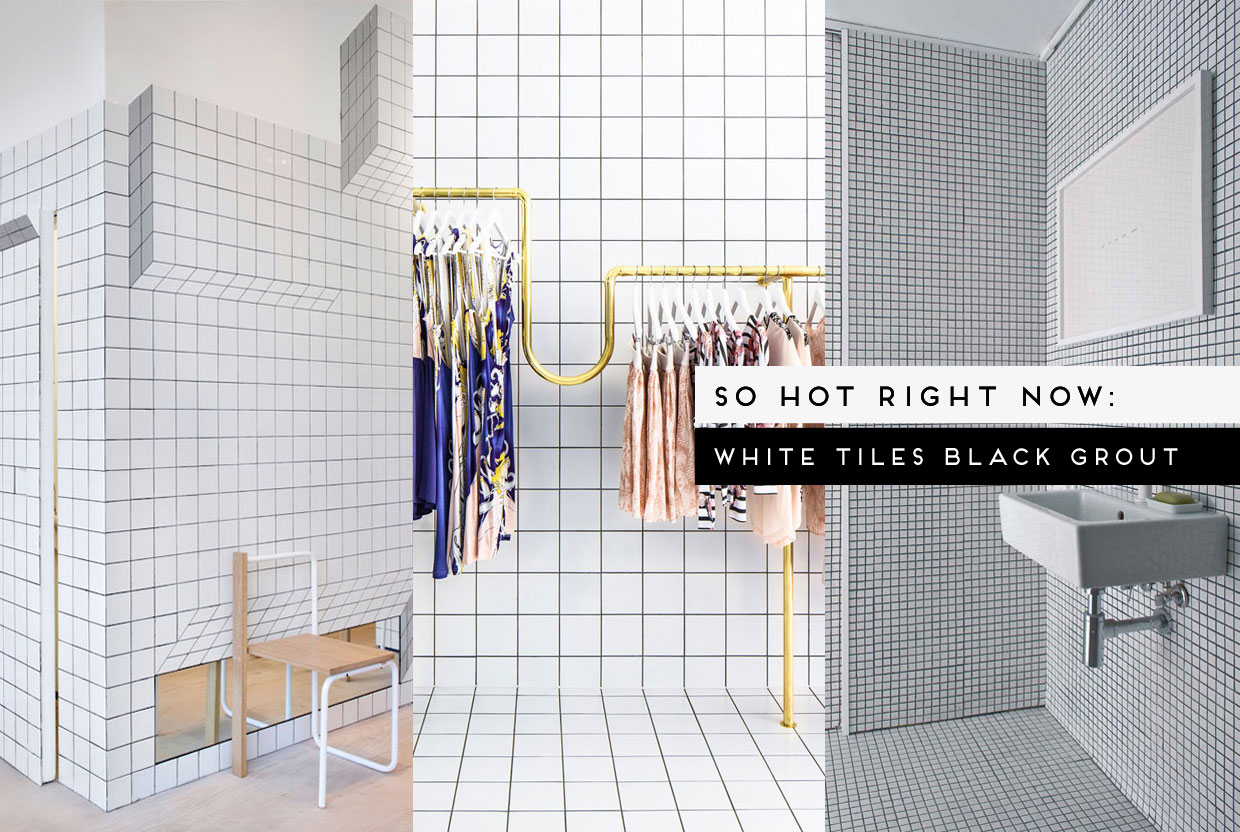 So Hot Right Now / White Tiles Black Grout, curated by Yellowtrace