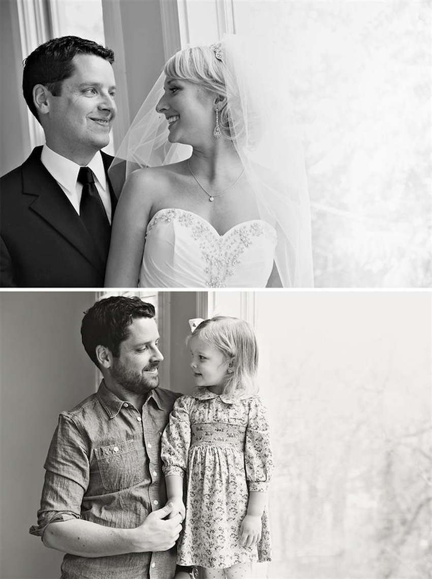 Father & Daughter Beautifully Recreate Wedding Photos of Late Mother | Yellowtrace