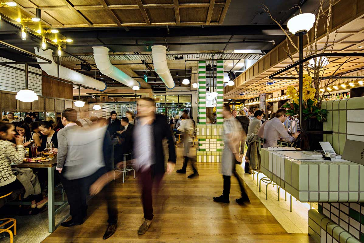 Hophaus Bier Bar, Southbank Vic by Maddison Architects / Photo by William Watt | Yellowtrace