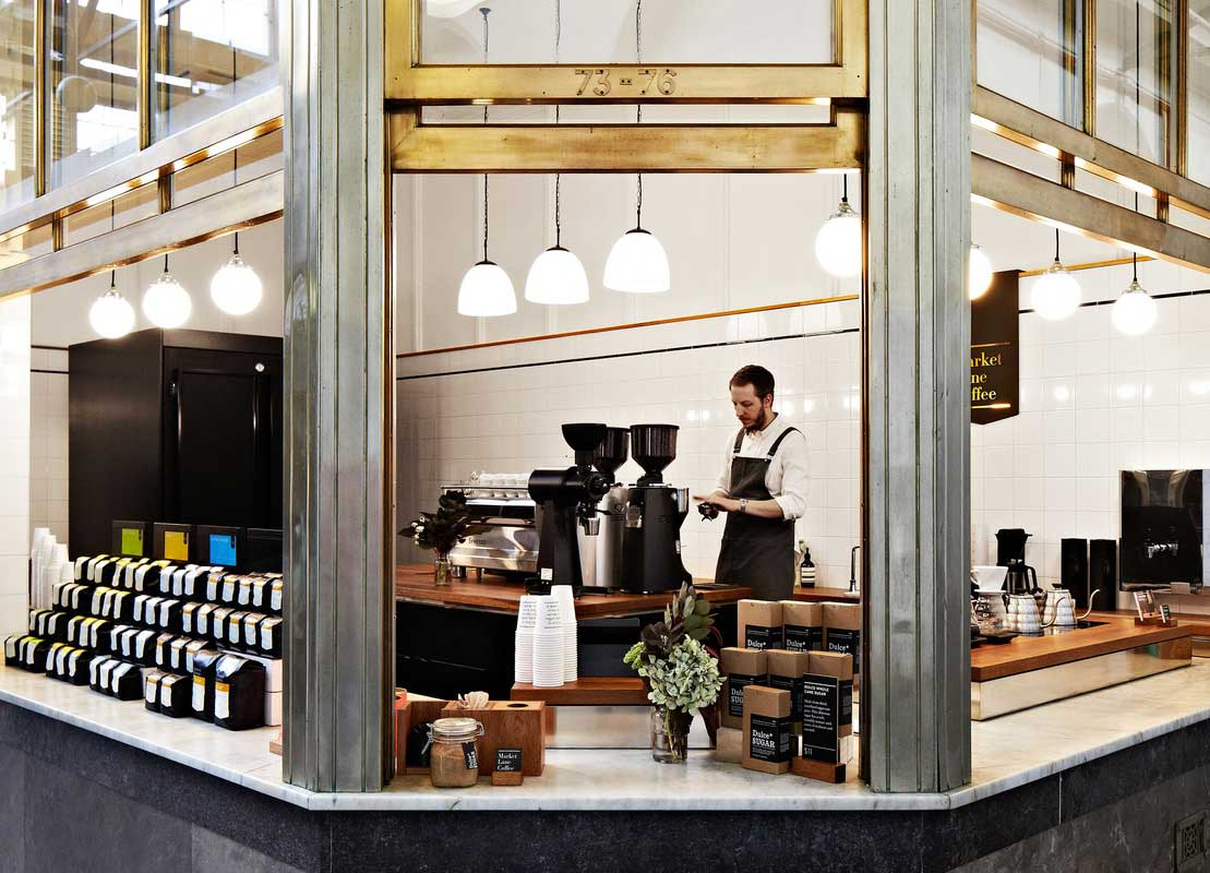 Market Lane Coffee, Queen Victoria Market by Hearth Studio / Image by Armelle Habib | Yellowtrace