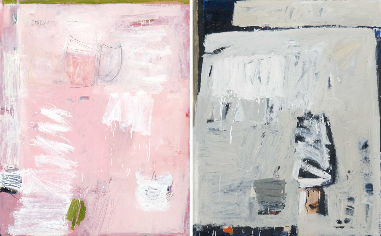 Pink Field with Green Edge by Sylvia McEwan | Yellowtrace