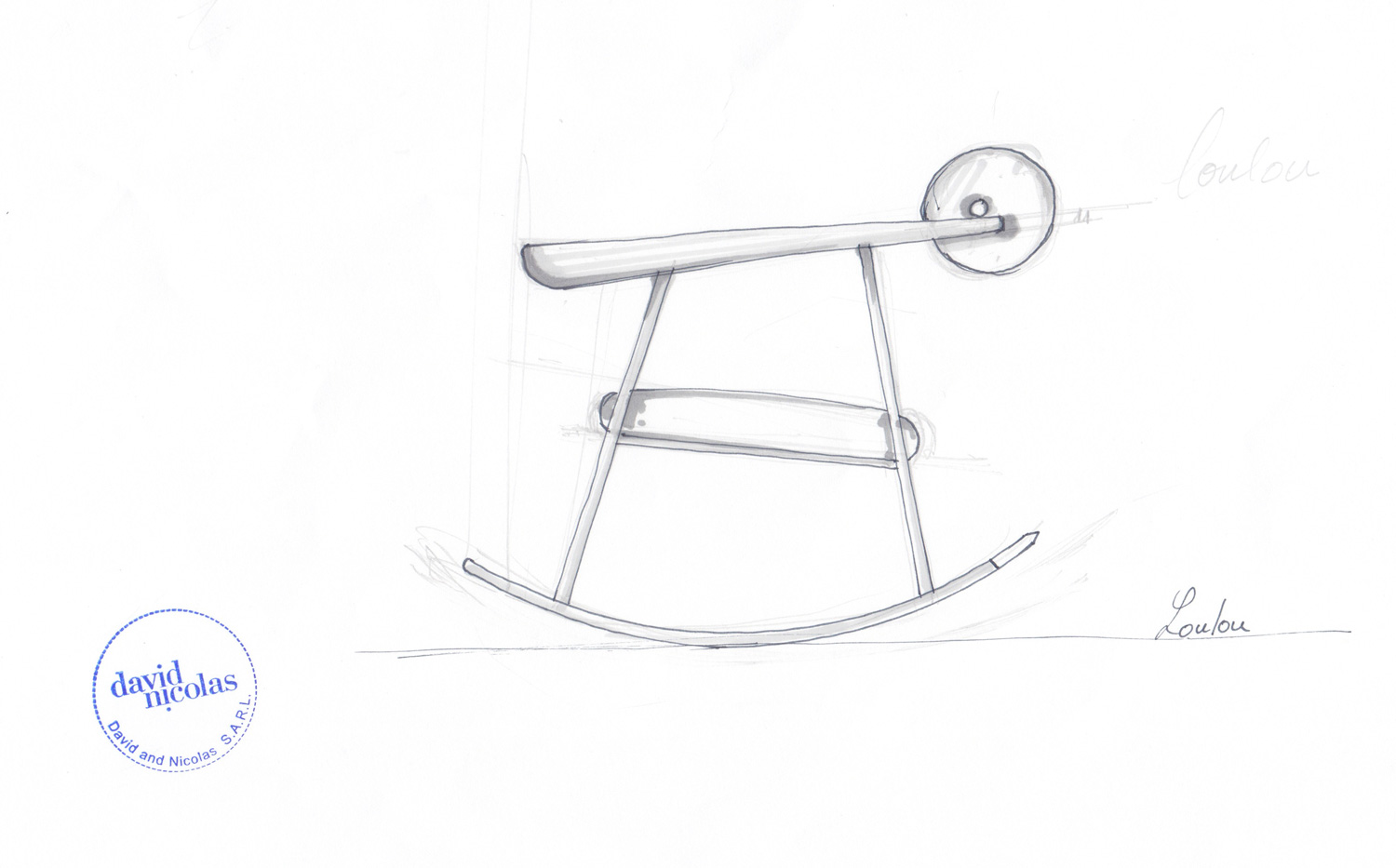 'Rocking Chair' (sketch) by david/nicolas / Part of Solo Show with Art Factum Gallery | Yellowtrace