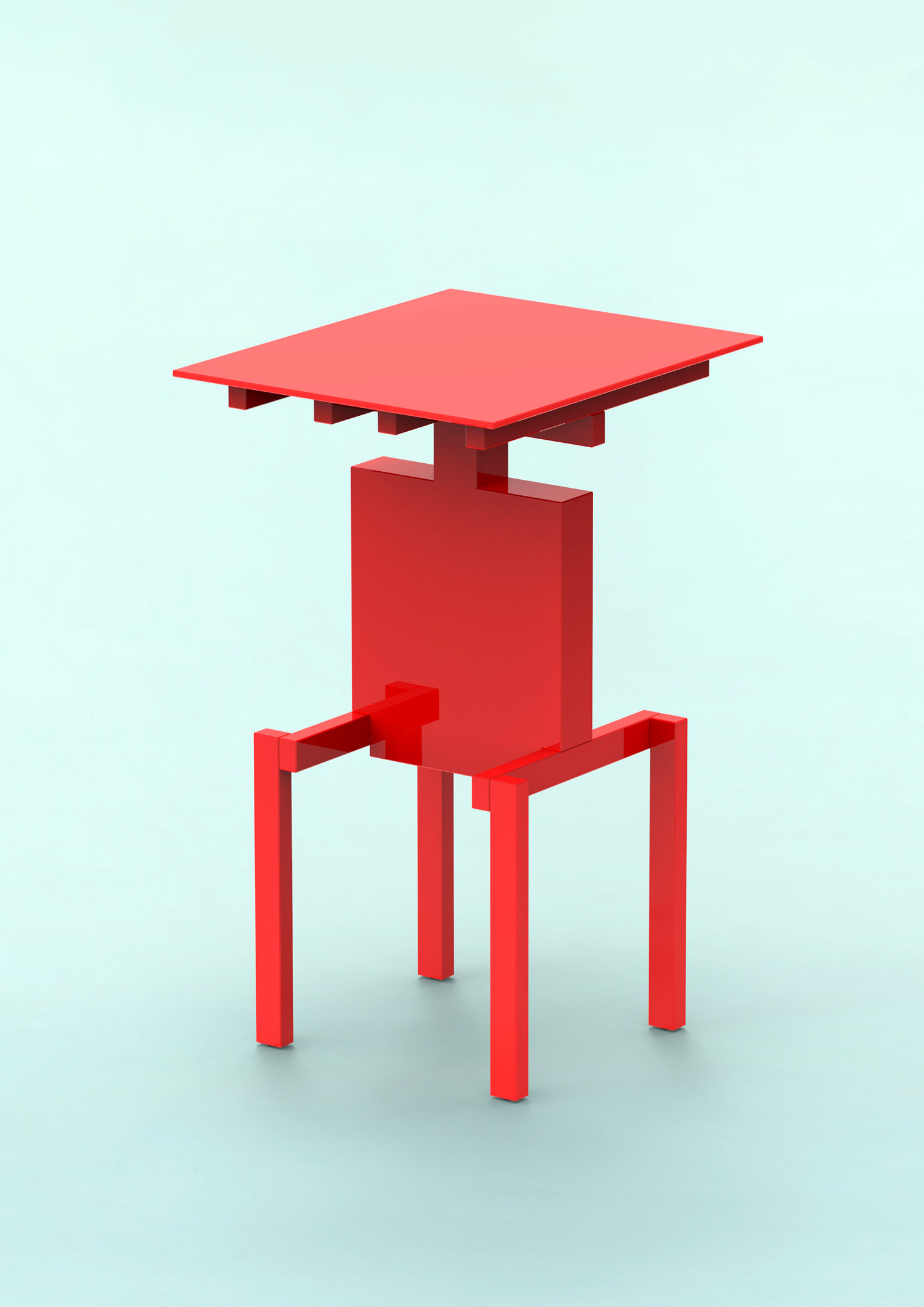 Covered Identity Side Table by Pascal Howe | Yellowtrace