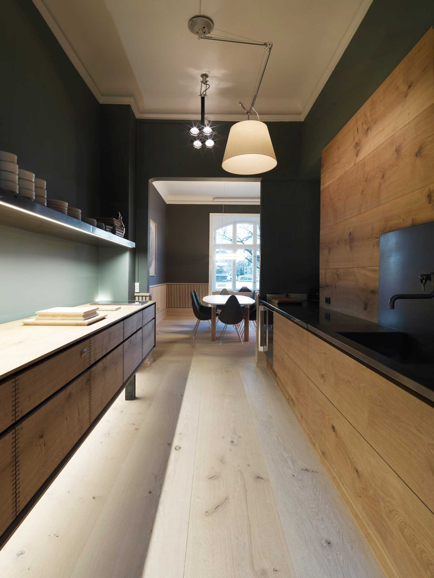 Dinesen showroom copenhagen by oeo yellowtrace for Modern kitchen interior