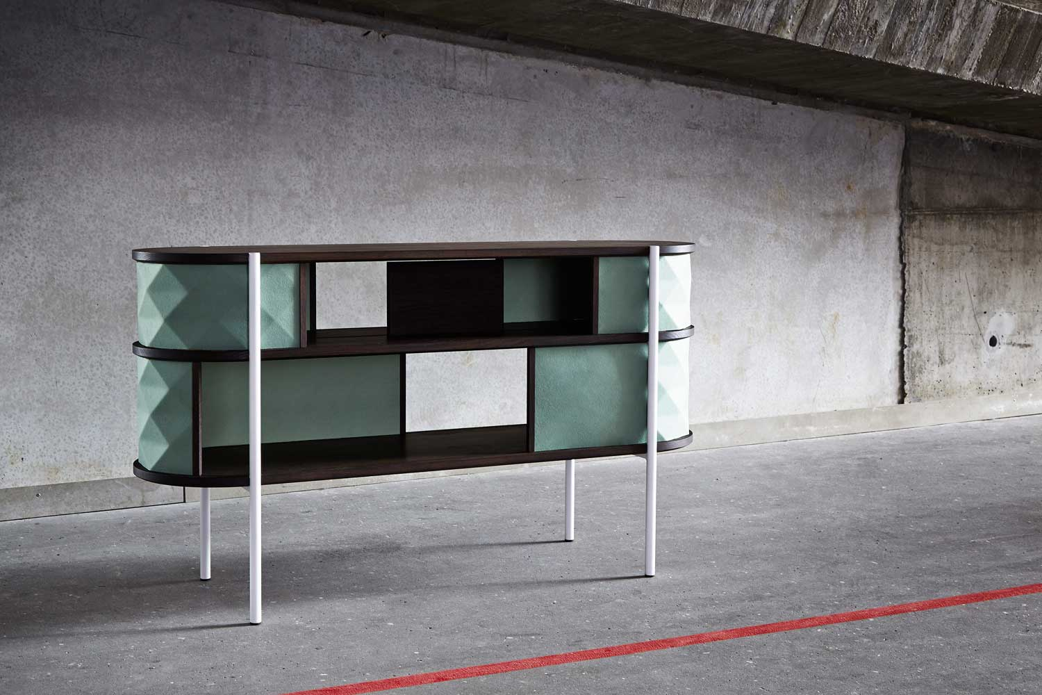 Waffle Sideboard by Britt Rasmussen, Sarah Cramer Anders & Engholm Kristensen | Yellowtrace