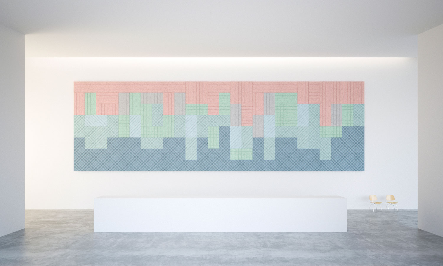 Acoustic Panels by Form Us With Love for Baux at Stockholm Design Week 2015 | Yellowtrace