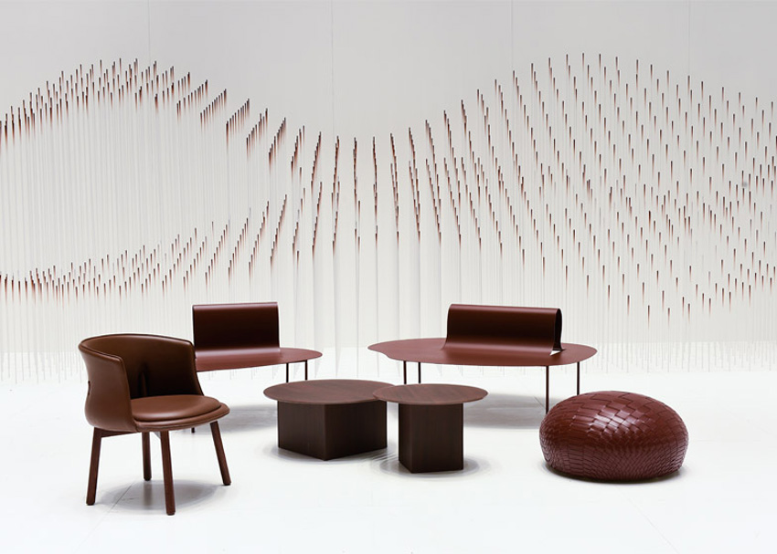 Chocolatexture Lounge Exhibition by Nendo at Maison & Objet 2015 | Yellowtrace