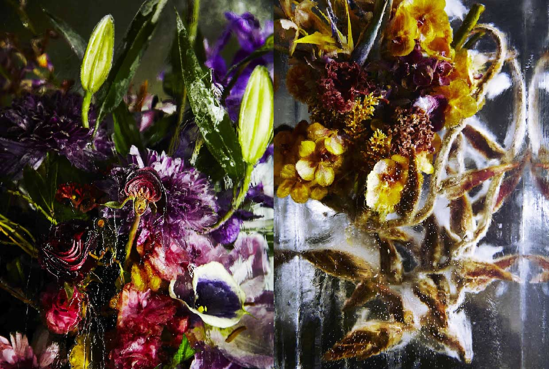 Flower bouquets frozen in blocks of ice by makoto azuma izmirmasajfo