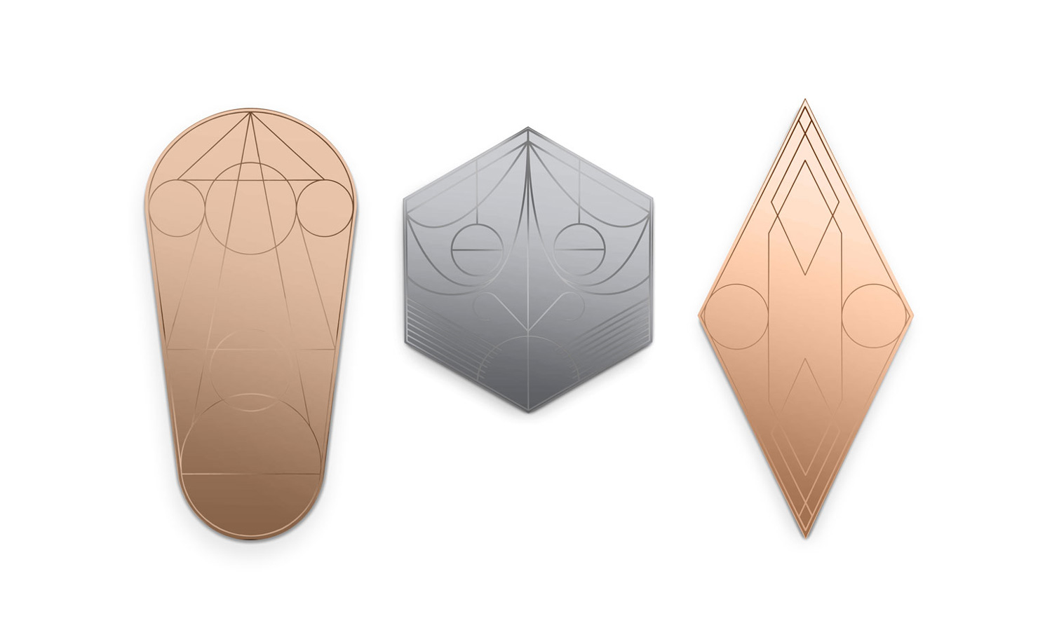 Mask Mirrors by Federico Floriani for Petite Friture at Maison & Objet 2015 | Yellowtrace