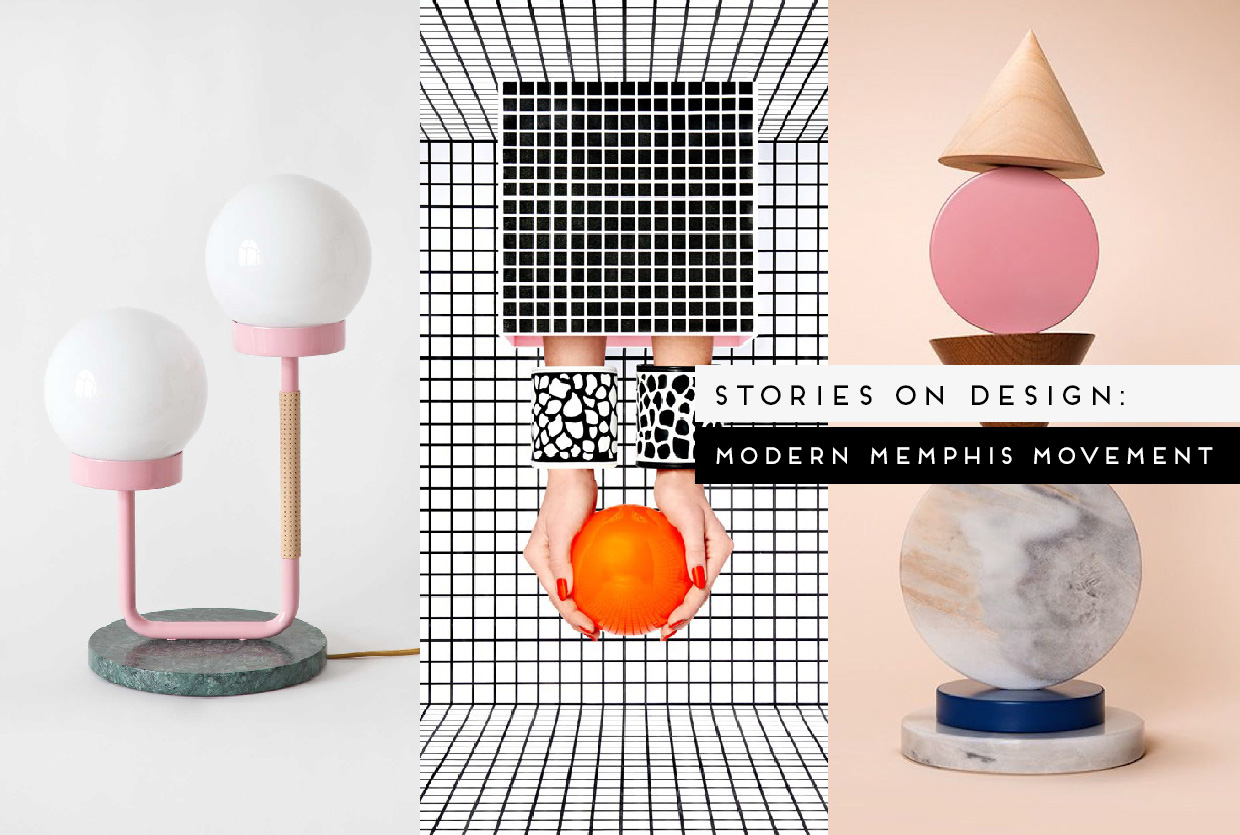 Modern memphis design trend curated by yellowtrace