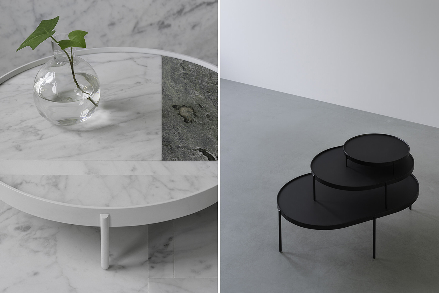Patch Marble Tables by Note Design Studio for Menu in Collab with Norm Architects at Stockholm Design Week 2015 | Yellowtrace