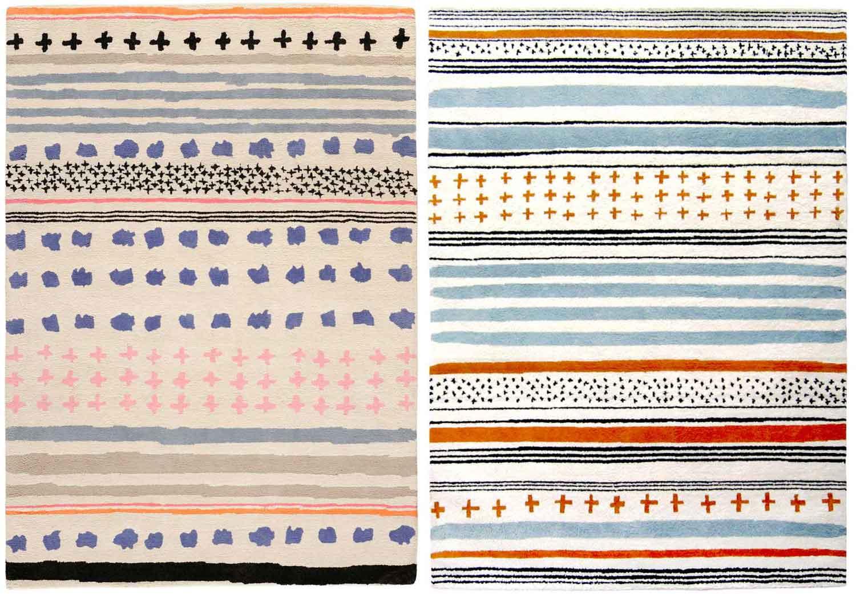 Rugs by Ines De La Fressange for Toulemonde Bochart at Maison & Objet | Yellowtrace