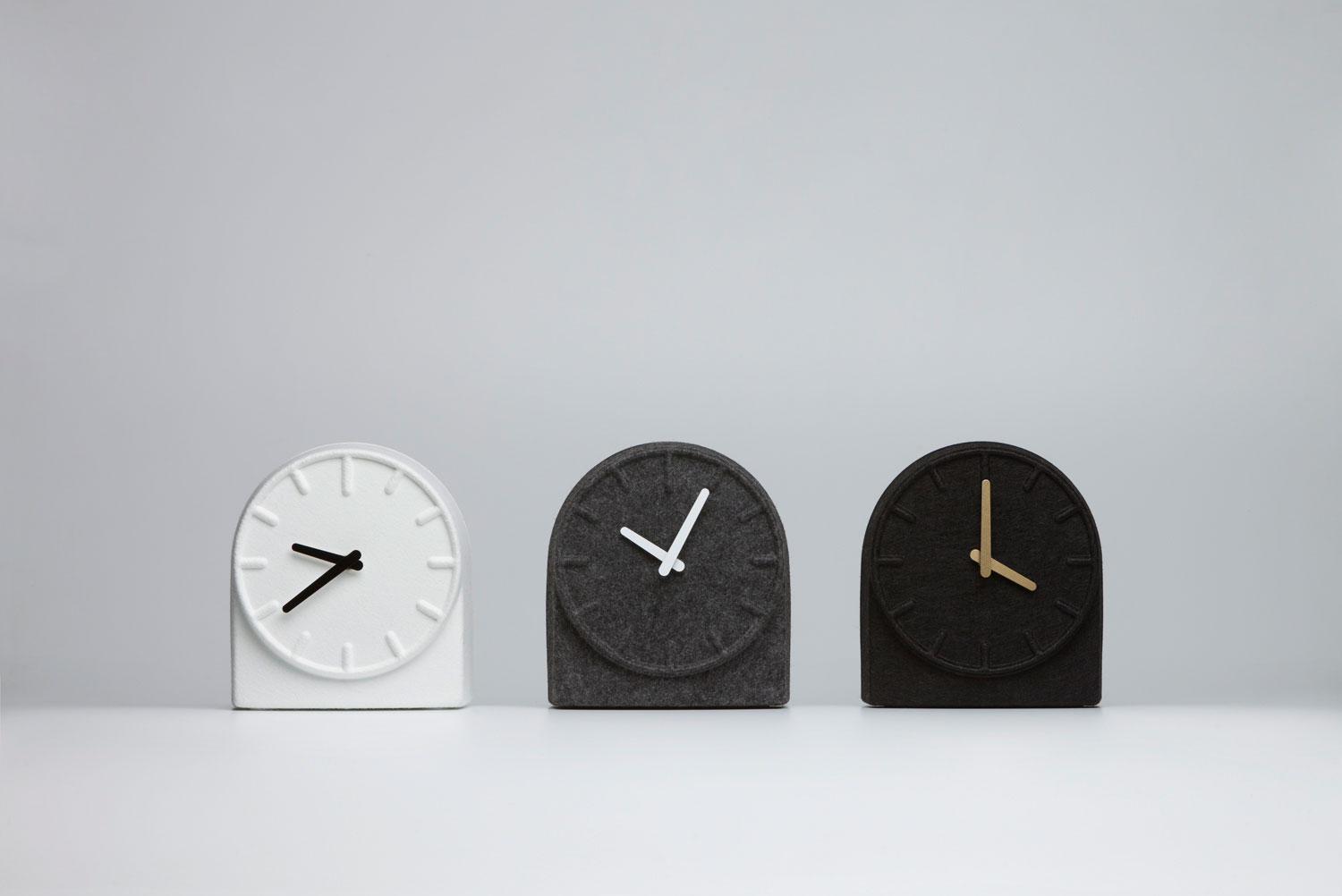 Sebastian Herkner Felt Two Clock for LEFF | Yellowtrace