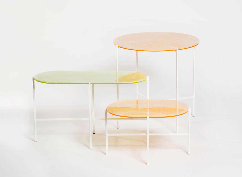 Sebastian Herkner Neon side table for Haymann   Yellowtrace