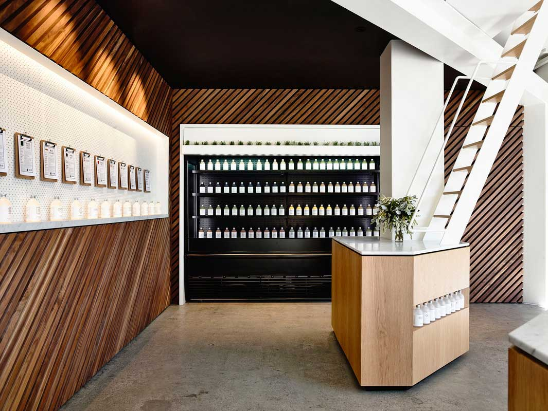 Greene St Juice Co. by Travis Walton Architecture & Interior Design. Photo by Derek Swalwell | Yellowtrace