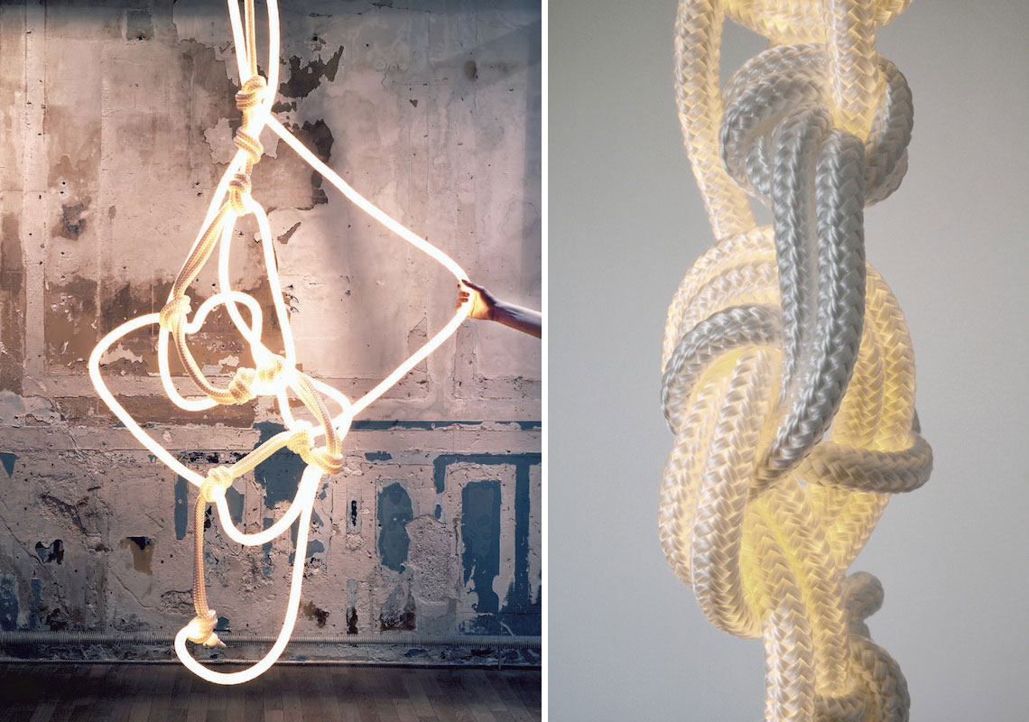 Rope Light by Christian Haas at Design Days Dubai 2015 | Yellowtrace