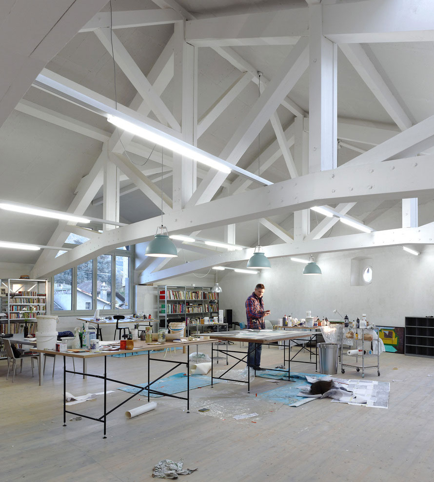 Studio in an Agricultural Building by Charles Pictet | Yellowtrace