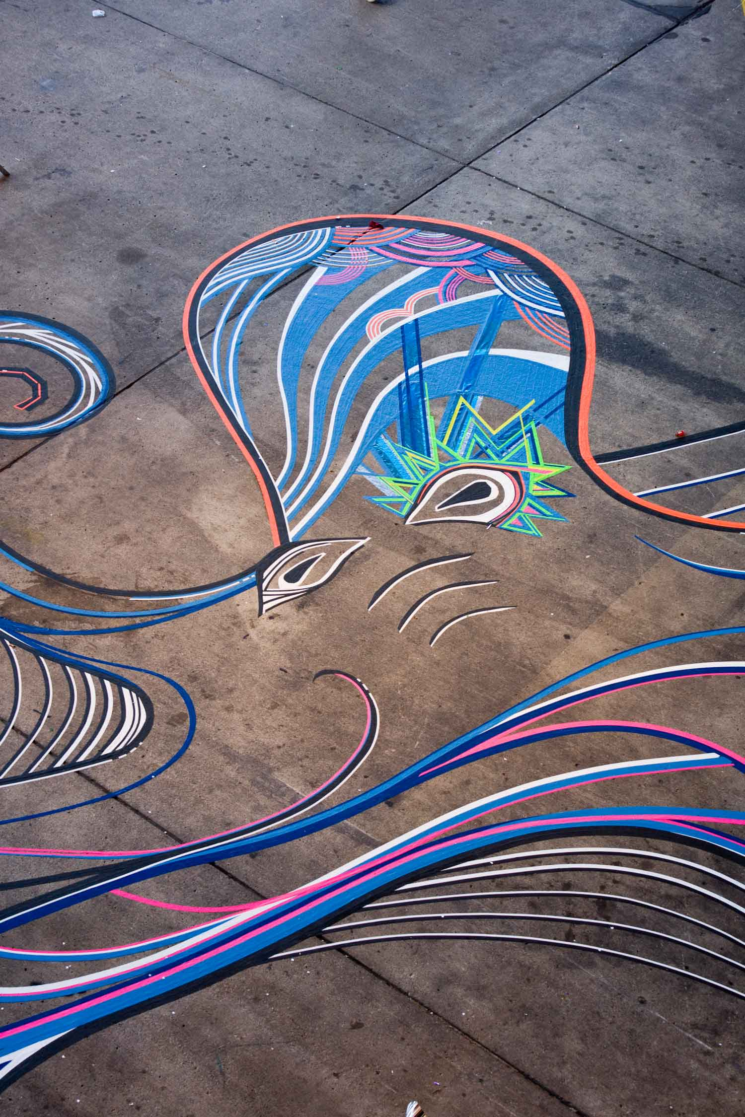 TAPE ART by TAPE OVER / Berlin Festival, Funky Octopus | Yellowtrace