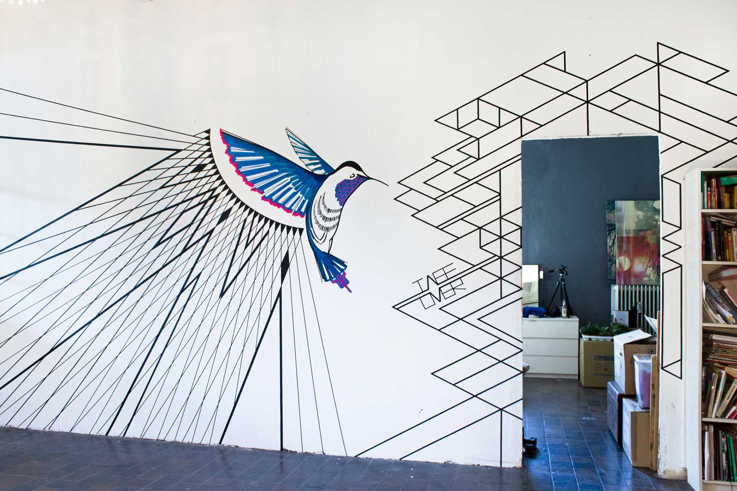 TAPE ART by TAPE OVER / Traumfrauen Hummingbird | Yellowtrace