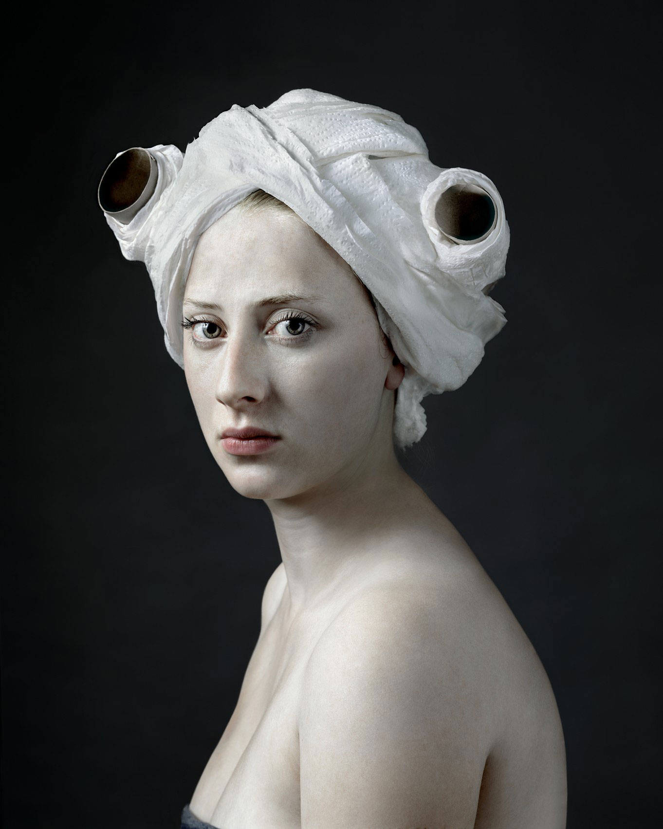 Hendrik Kerstens Photographs His Daughter in the Style of Dutch Masters with a Twist | Yellowtrace