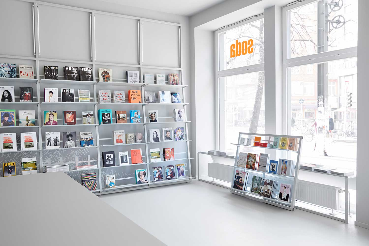 soda berlin bookstore by designliga yellowtrace. Black Bedroom Furniture Sets. Home Design Ideas